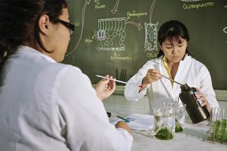 Laboratório da área de ciências biológicas