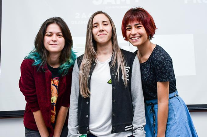 Participação feminina: Bianca Gorni, Letícia Beluzi e Maryana mostraram que game também é coisa de menina