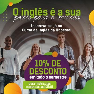 Curso de Inglês PRÉ INTERMEDIÁRIO: Segundas e Quartas - feiras das 12h às 13h  CAMPUS II